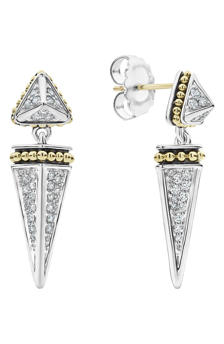 LAGOS KSL Lux Diamond Pyramid Drop Earrings