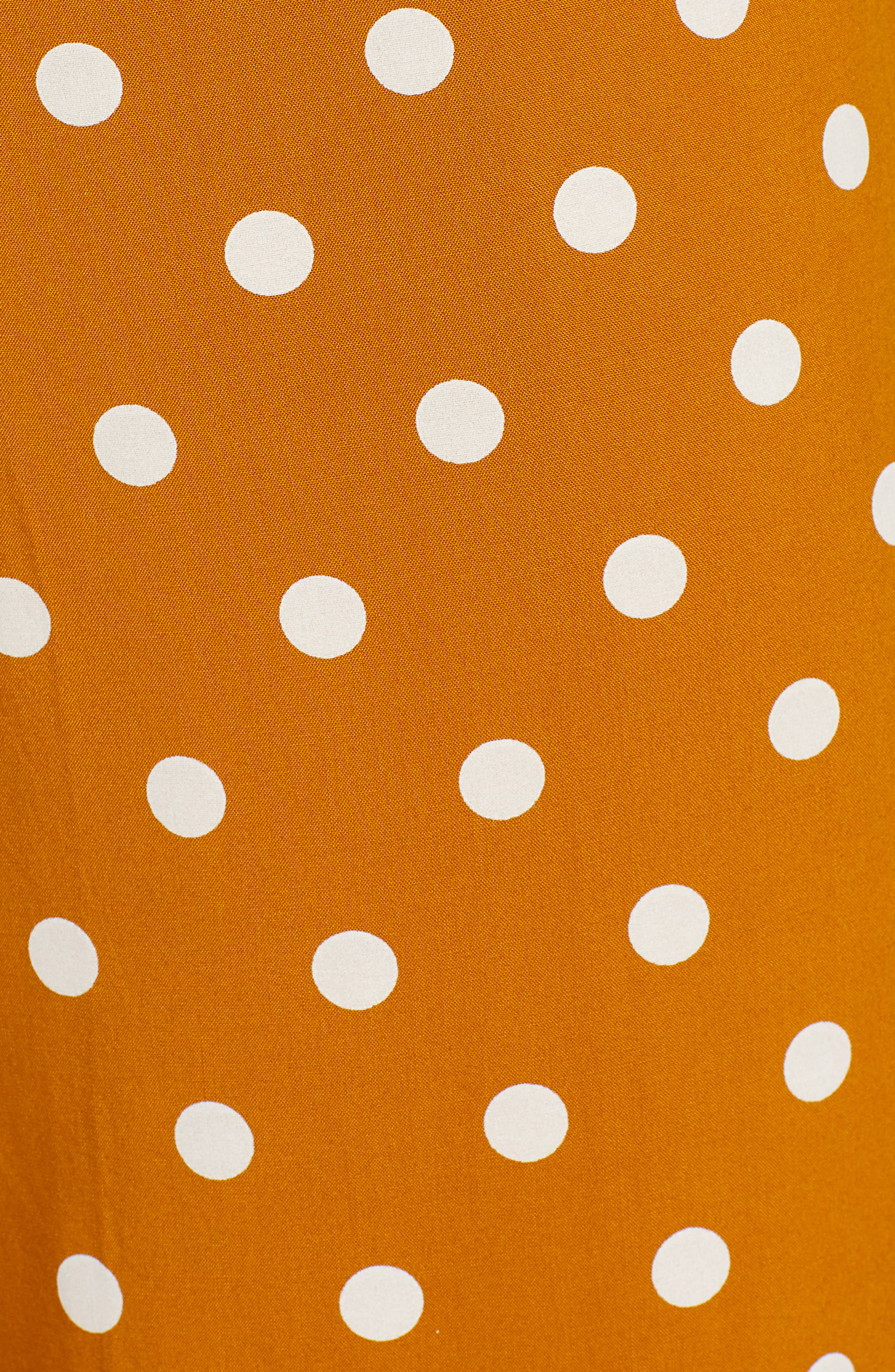,                             Polka Dot Jumpsuit,                             Alternate thumbnail 6, color,                             BROWN BUCKTHORN POLKA DOT