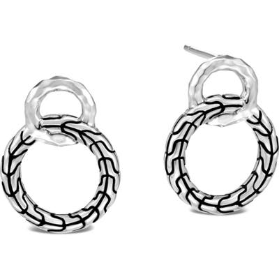 John Hardy Classic Chain Hammered Sterling Silver Earrings