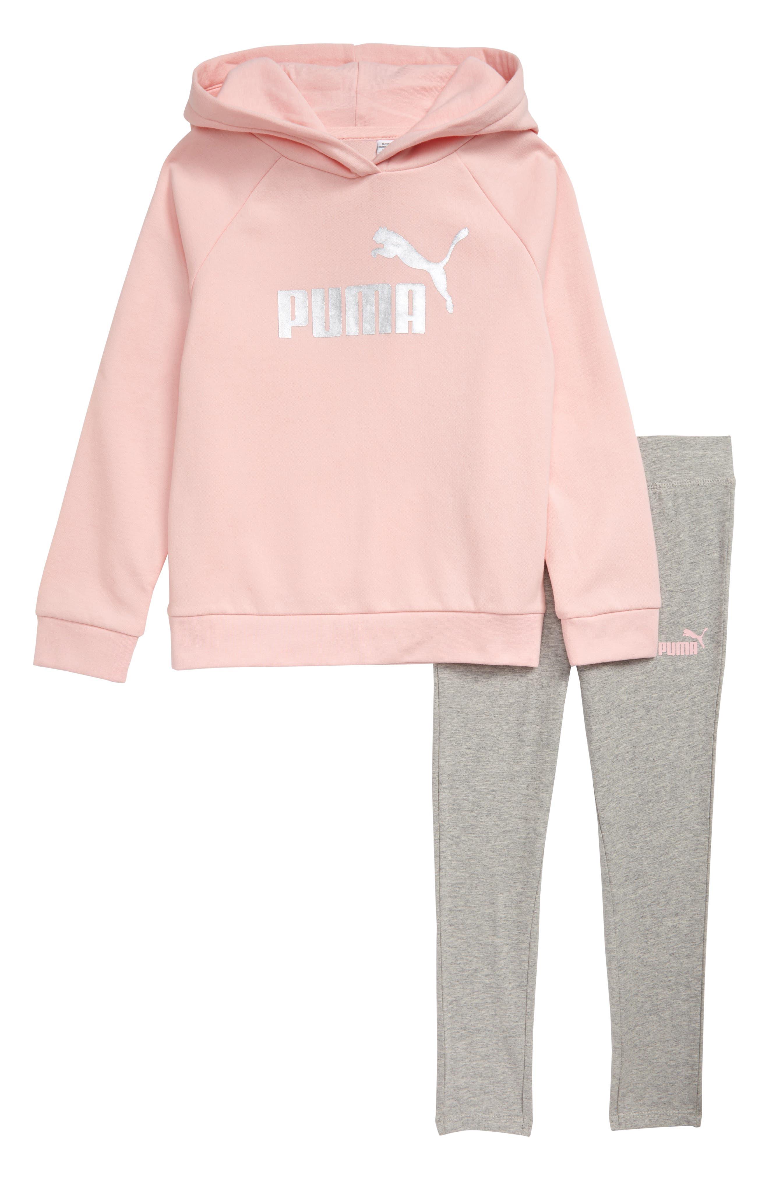 Girls Puma Fleece Hoodie  Leggings Set