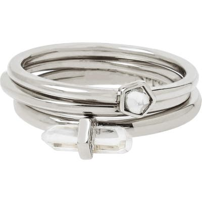 Allsaints Set Of 3 Stackable Rings