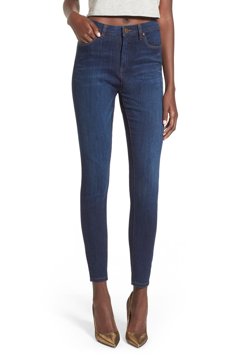 BLANKNYC High Rise Skinny Jeans, Main, color, 400