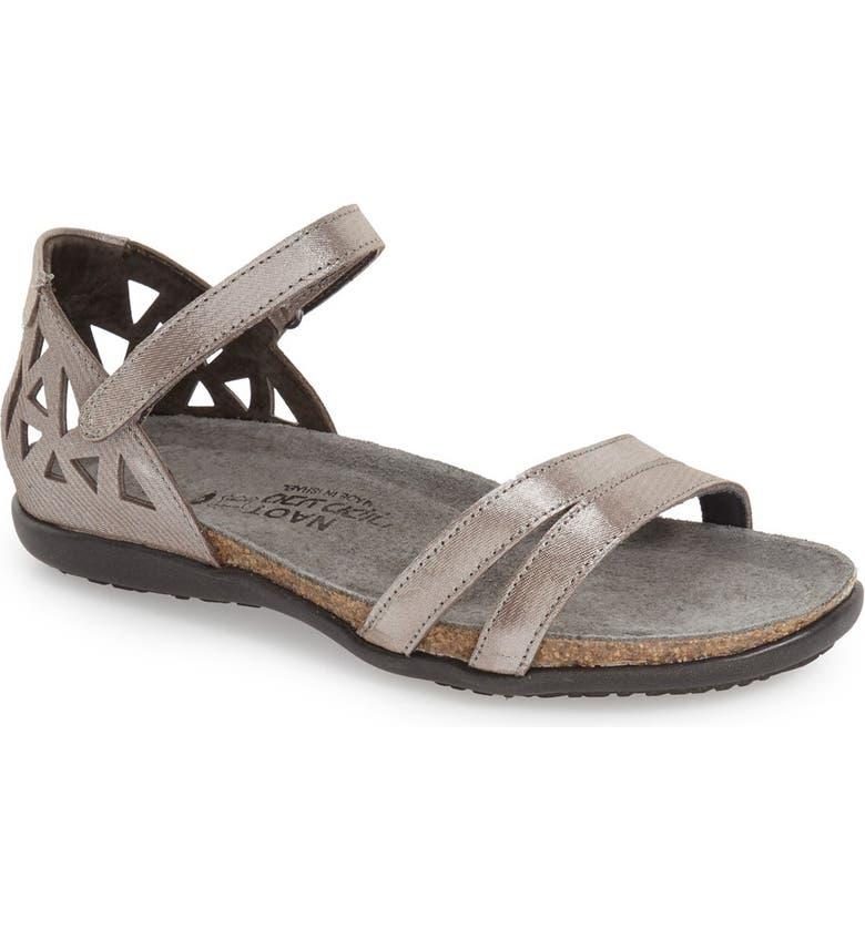 NAOT 'Bonnie' Sandal, Main, color, SILVER THREADS LEATHER