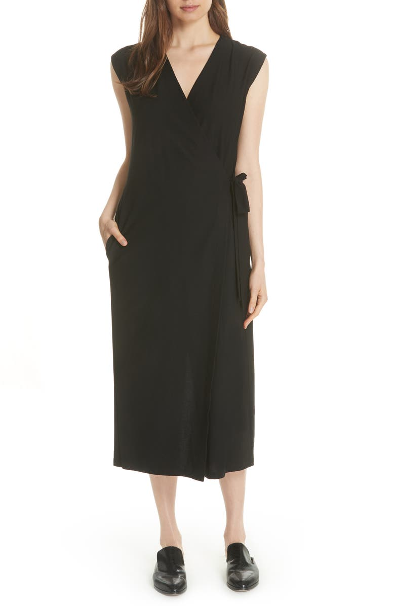 47e503c8866 Eileen Fisher Wrap Crop Wide Leg Jumpsuit | Nordstrom