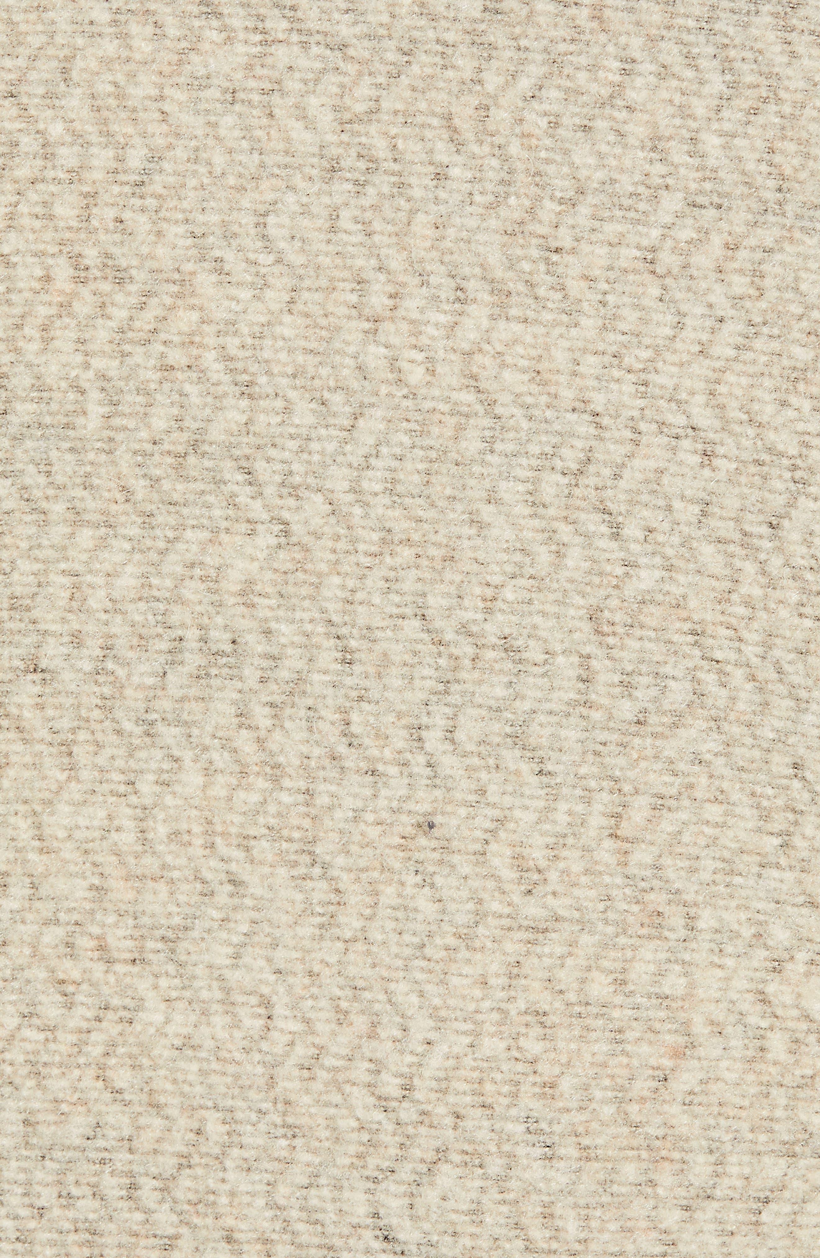 ,                             Woolyester Fleece Quarter Zip Pullover,                             Alternate thumbnail 5, color,                             OATMEAL HEATHER