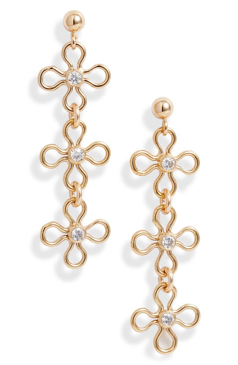 SET & STONES Mabel Drop Earrings, Main, color, GOLD
