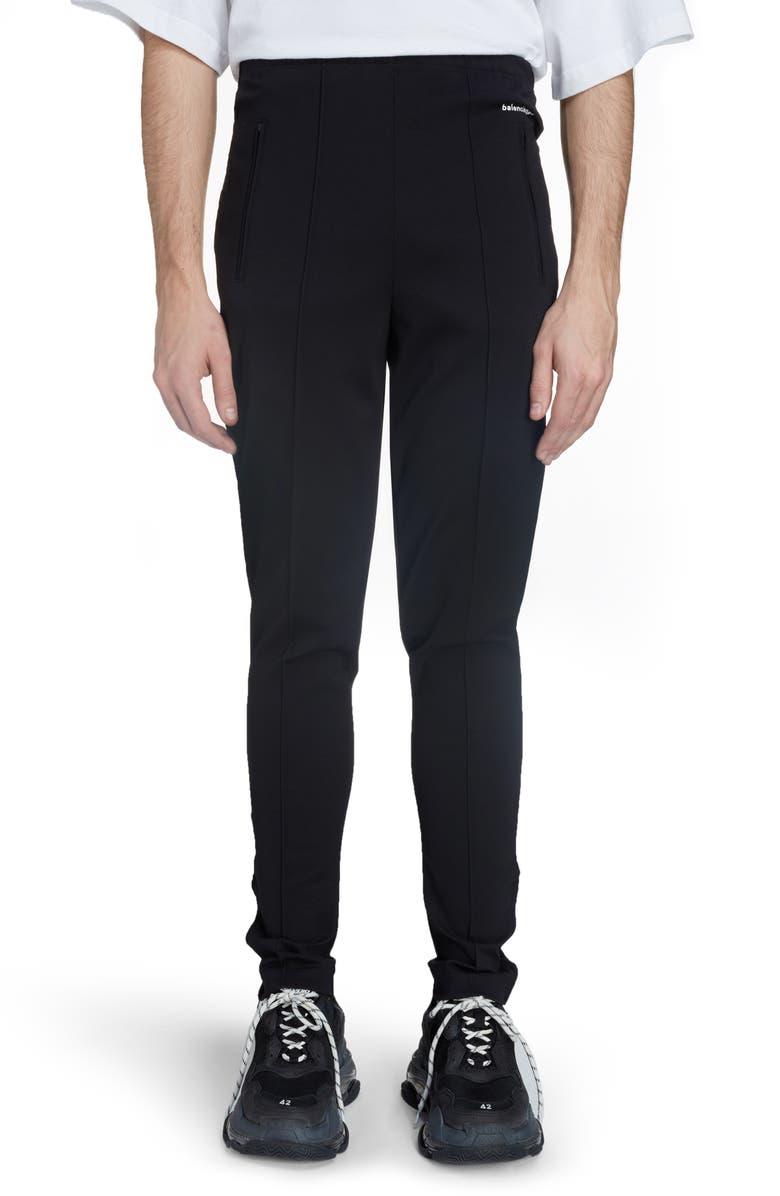 BALENCIAGA Facelift High Waist Sweatpants, Main, color, BLACK