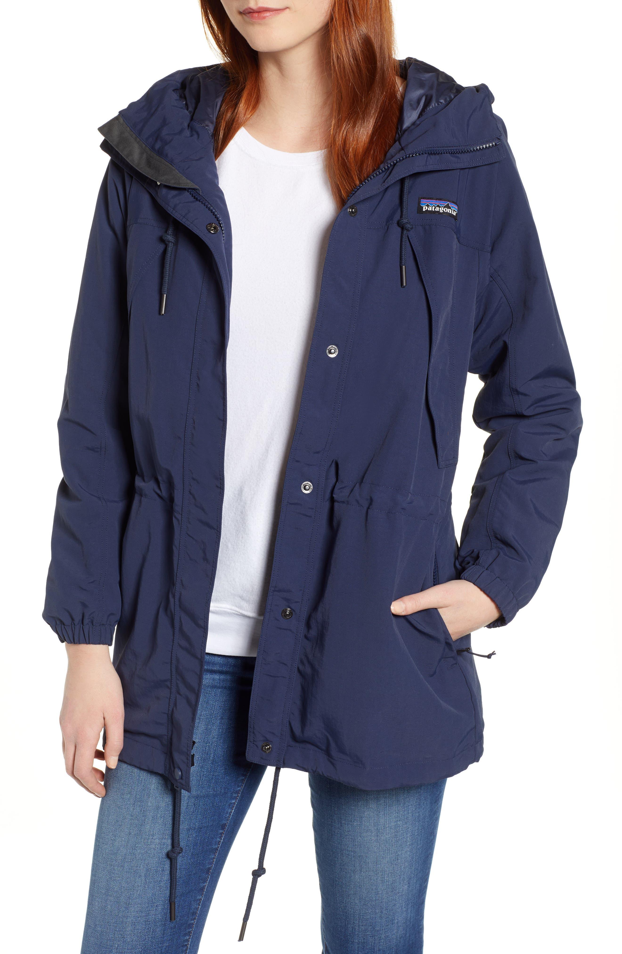 Patagonia Skyforest Water Repellent Hooded Jacket, Blue