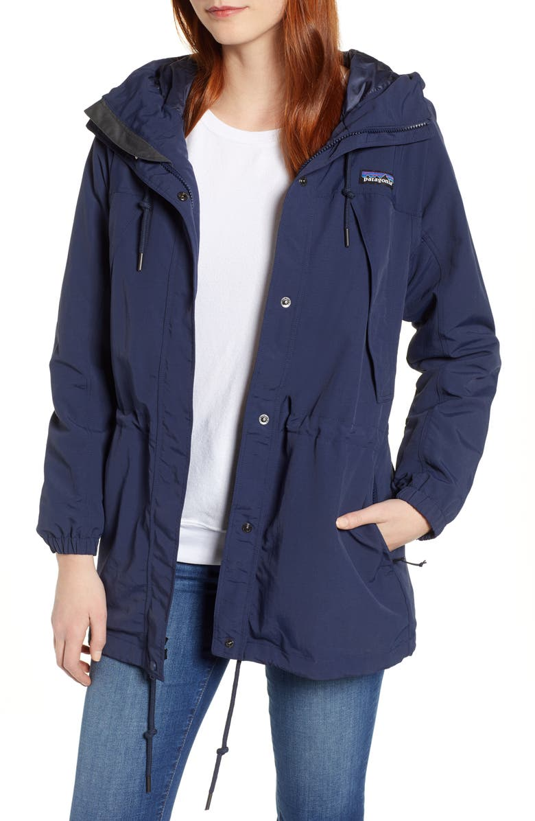 PATAGONIA Skyforest Water Repellent Hooded Jacket, Main, color, NEO NAVY