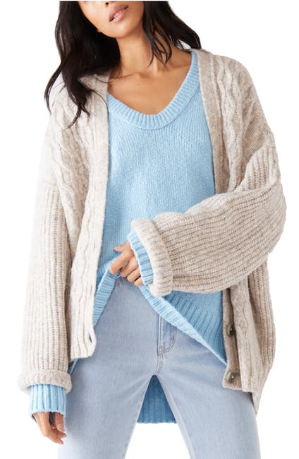Image of Free People Molly Cable Knit Cardigan