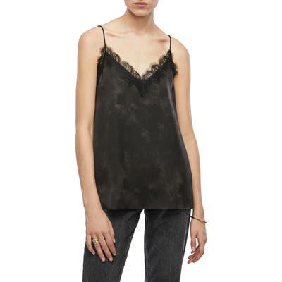 Anine Bing Belle Lace Trim Silk Camisole