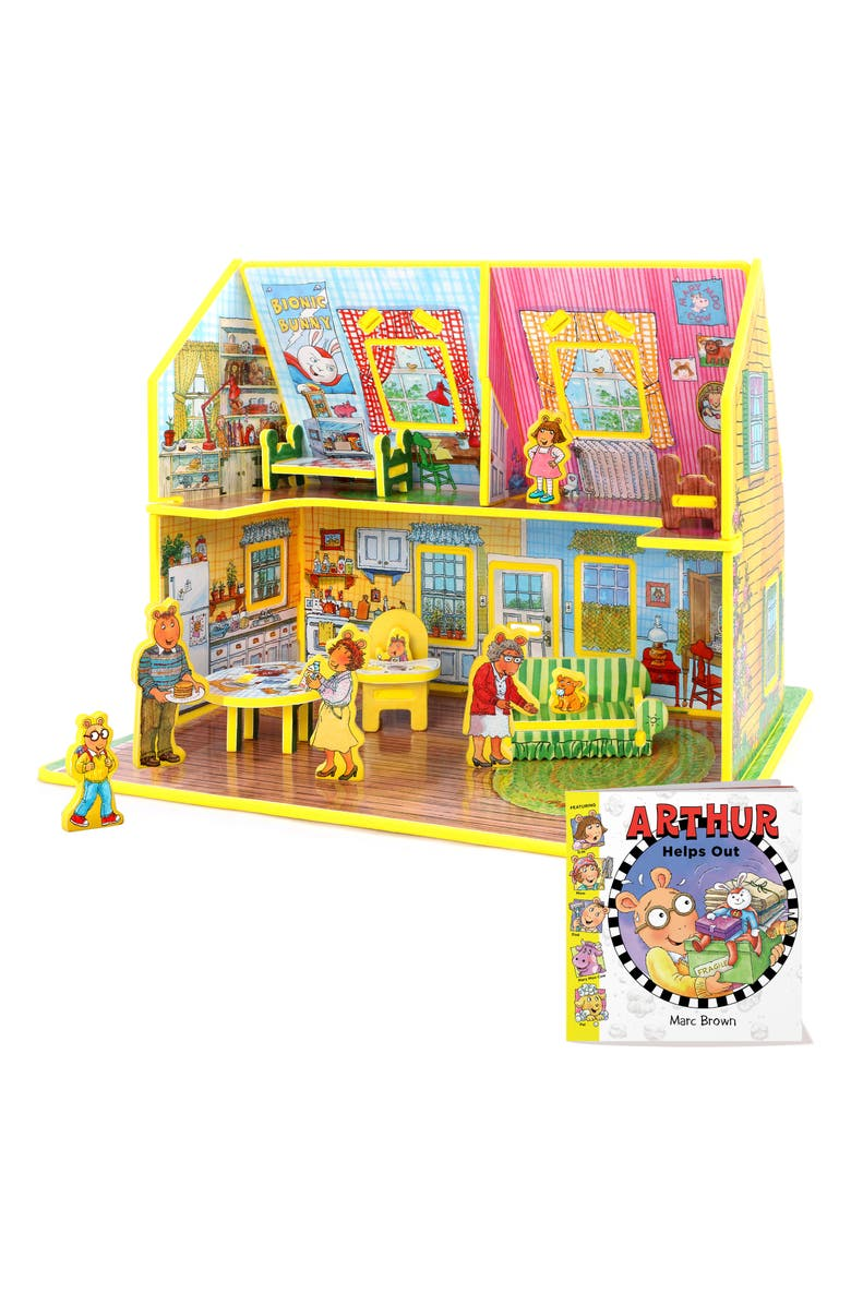 STORYTIME Story Time 'Arthur Helps Out' Book & Toy House Play Set, Main, color, MULTI
