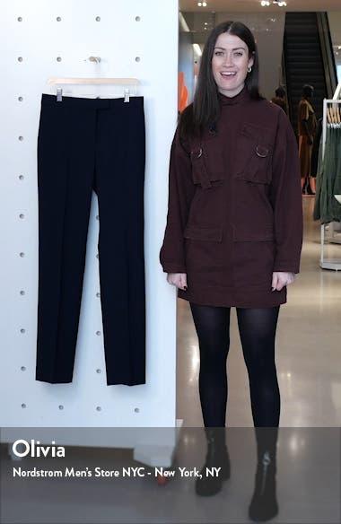 Tewah 1 Straight Leg Stretch Wool Pants, sales video thumbnail