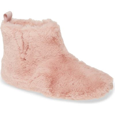 Fitflop Faux Fur Slipper Bootie, Pink