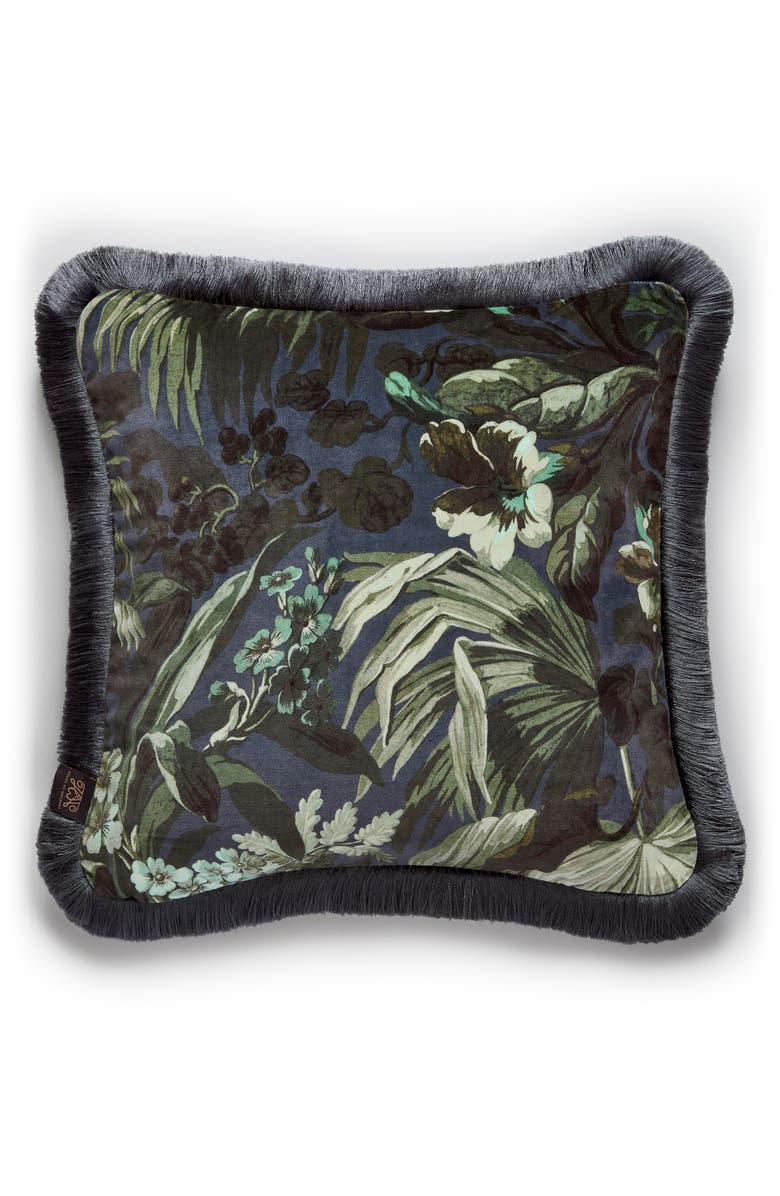 HOUSE OF HACKNEY Limerence Velveteen Accent Pillow, Main, color, INK