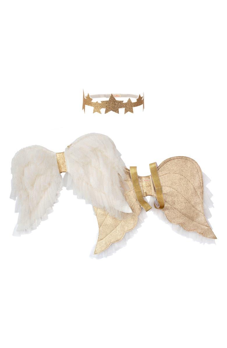 MERI MERI Costume Angel Wings & Headband Set, Main, color, WHITE