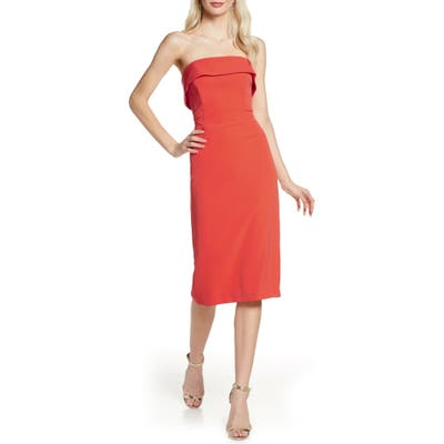 Bardot Georgia Strapless Dress, Orange