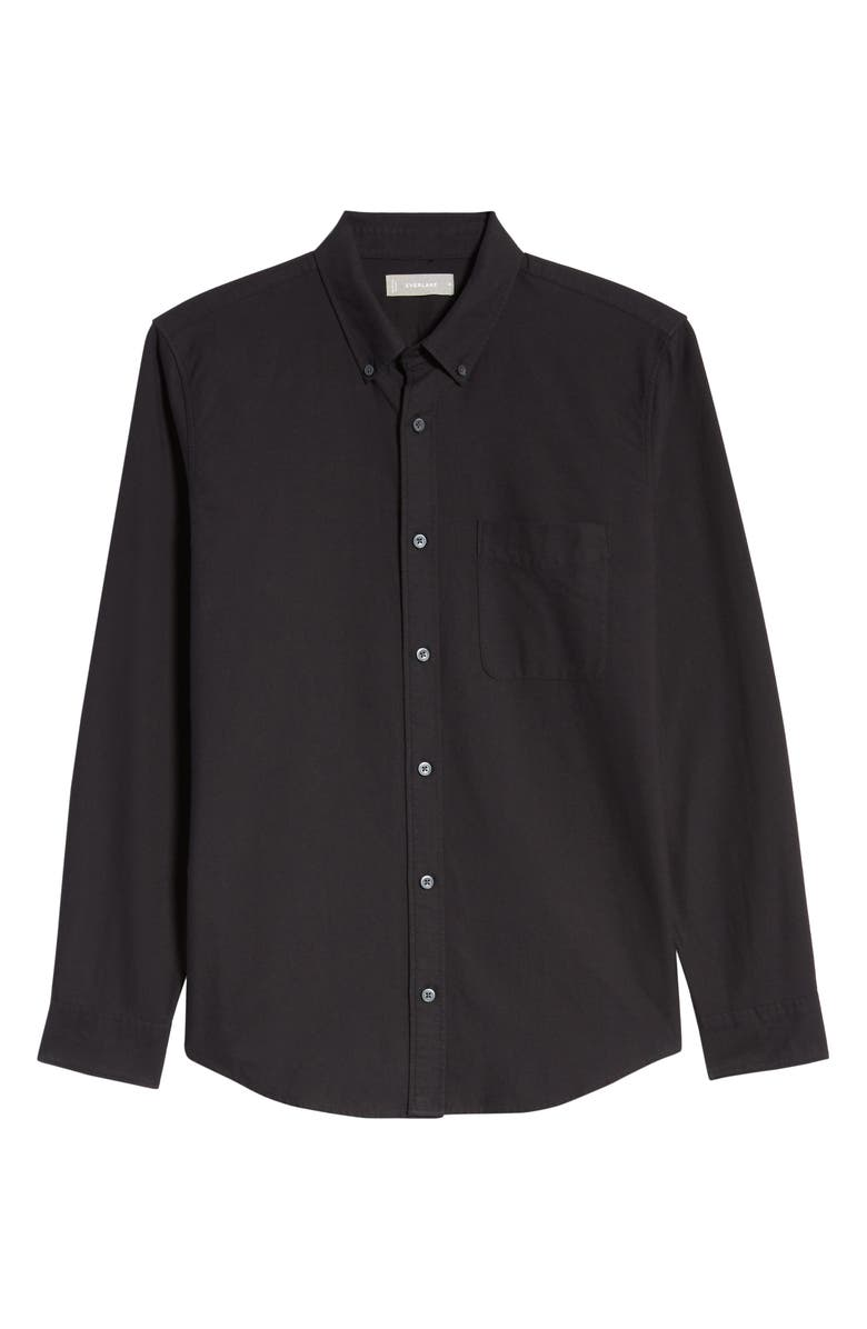 EVERLANE Uniform The Japanese Slim Fit Oxford Shirt, Main, color, BLACK