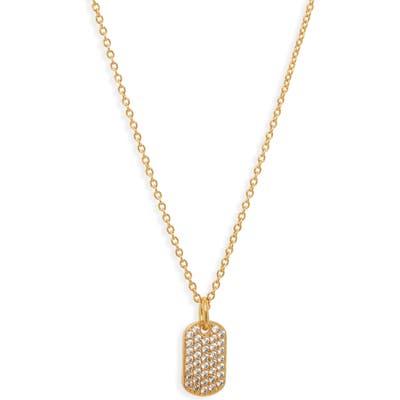 Gorjana Griffen Shimmer Dog Tag Pendant Necklace
