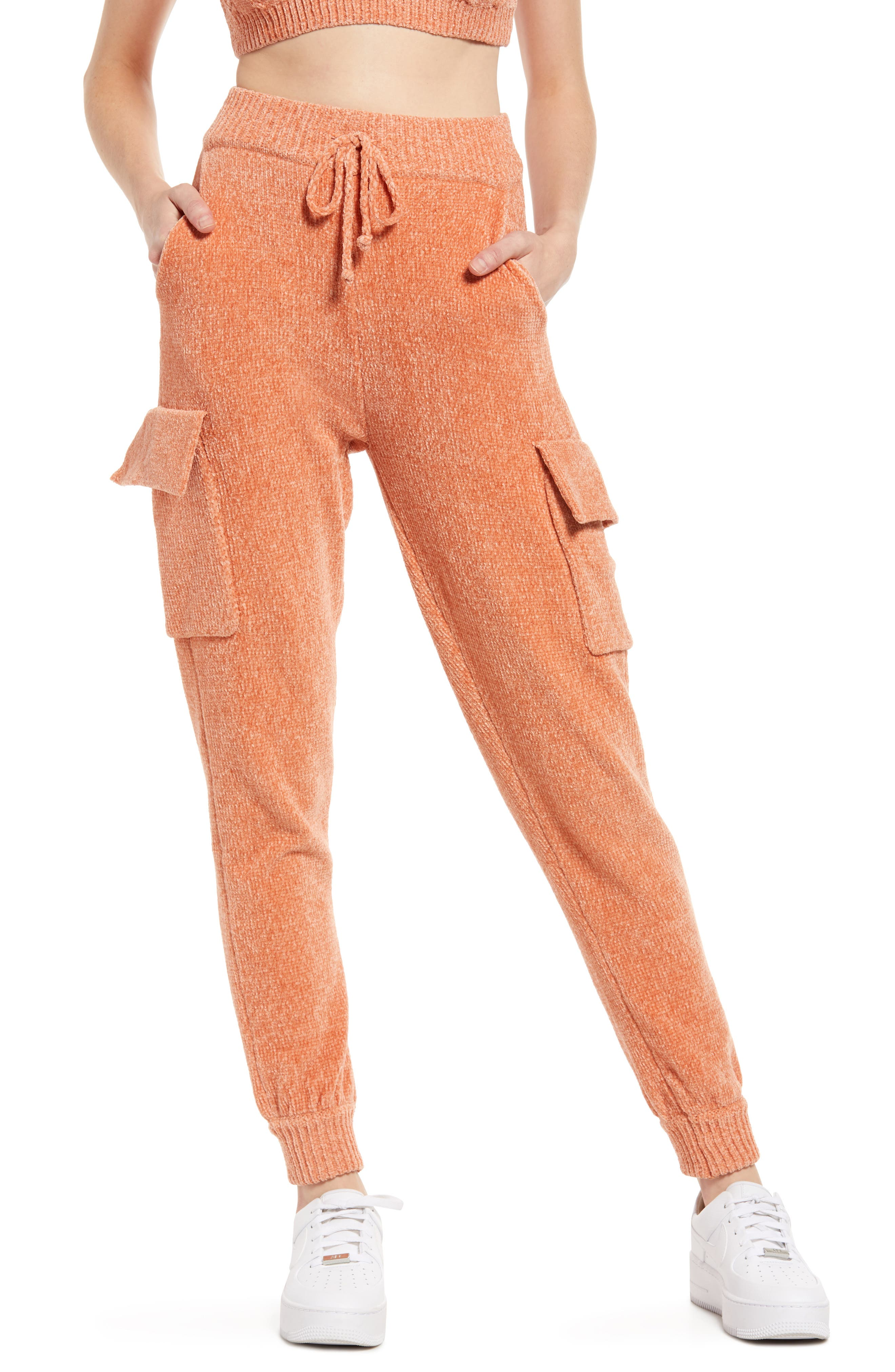 Women's Kendall + Kylie Chenille Cargo Joggers