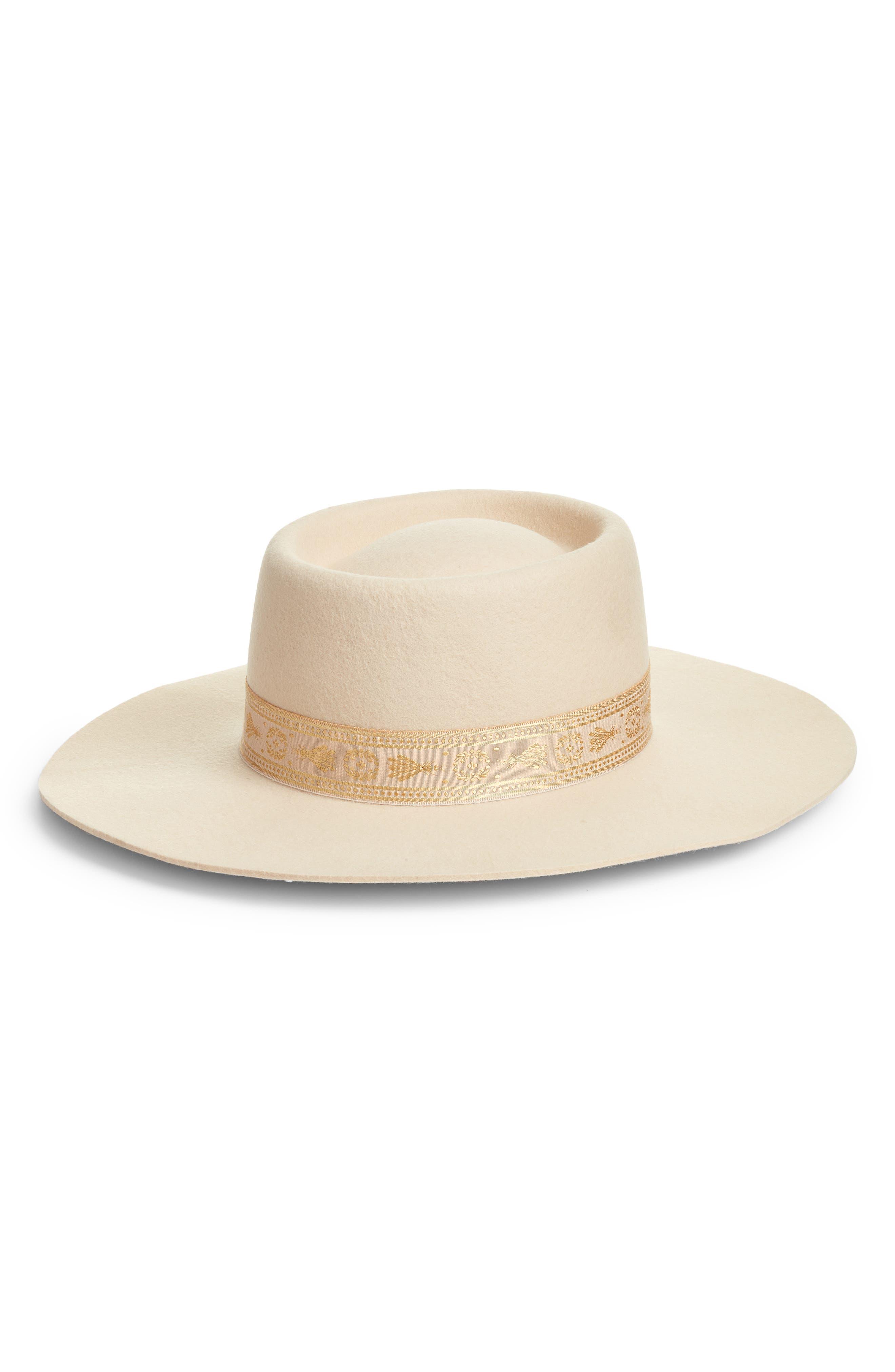 Juno Wool Boater Hat