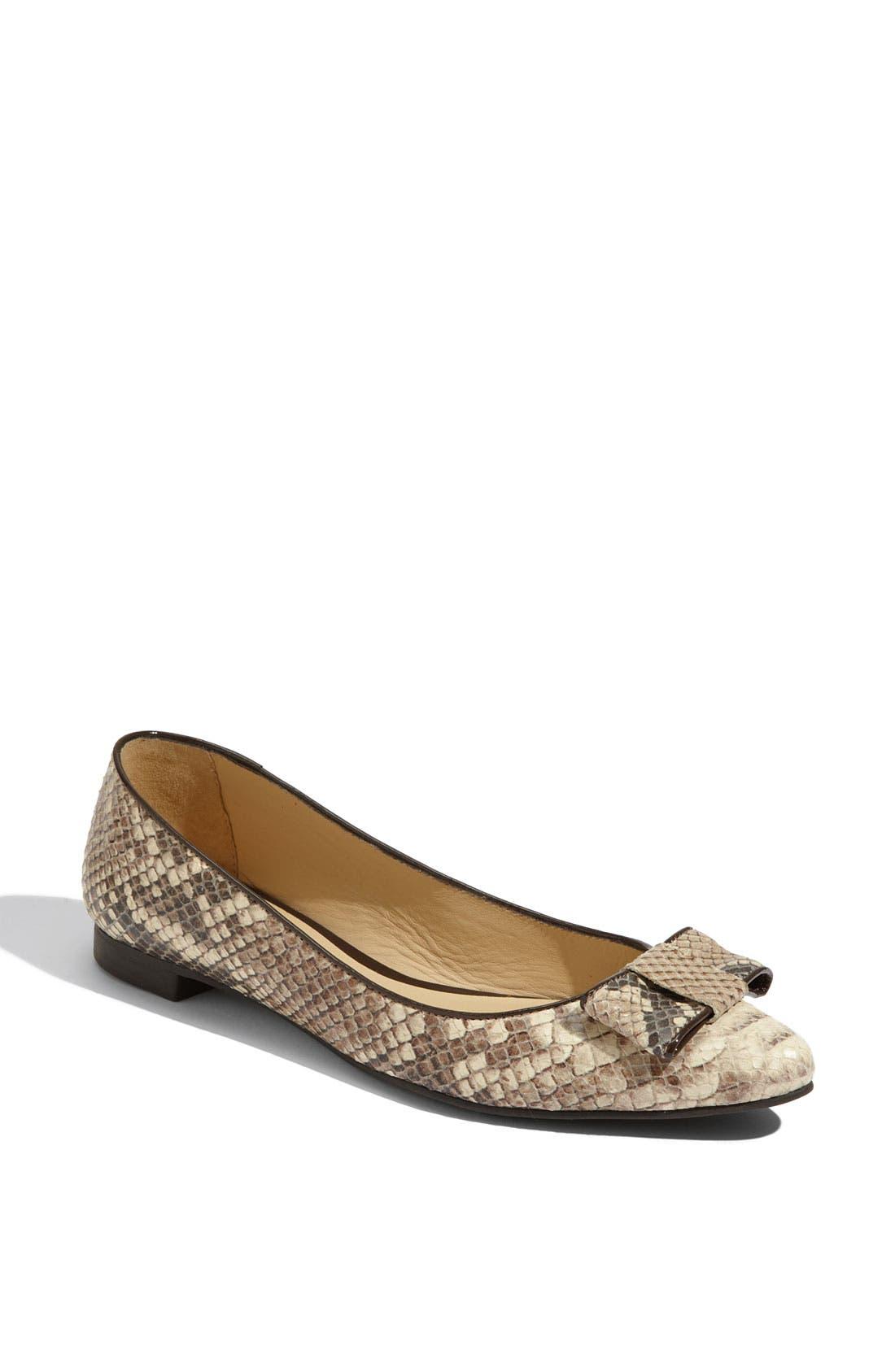 ,                             'elise' leopard print calf hair flat,                             Main thumbnail 5, color,                             250
