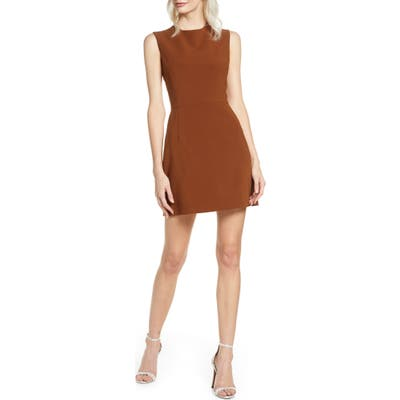 French Connection Sundae Stretch Minidress, Brown