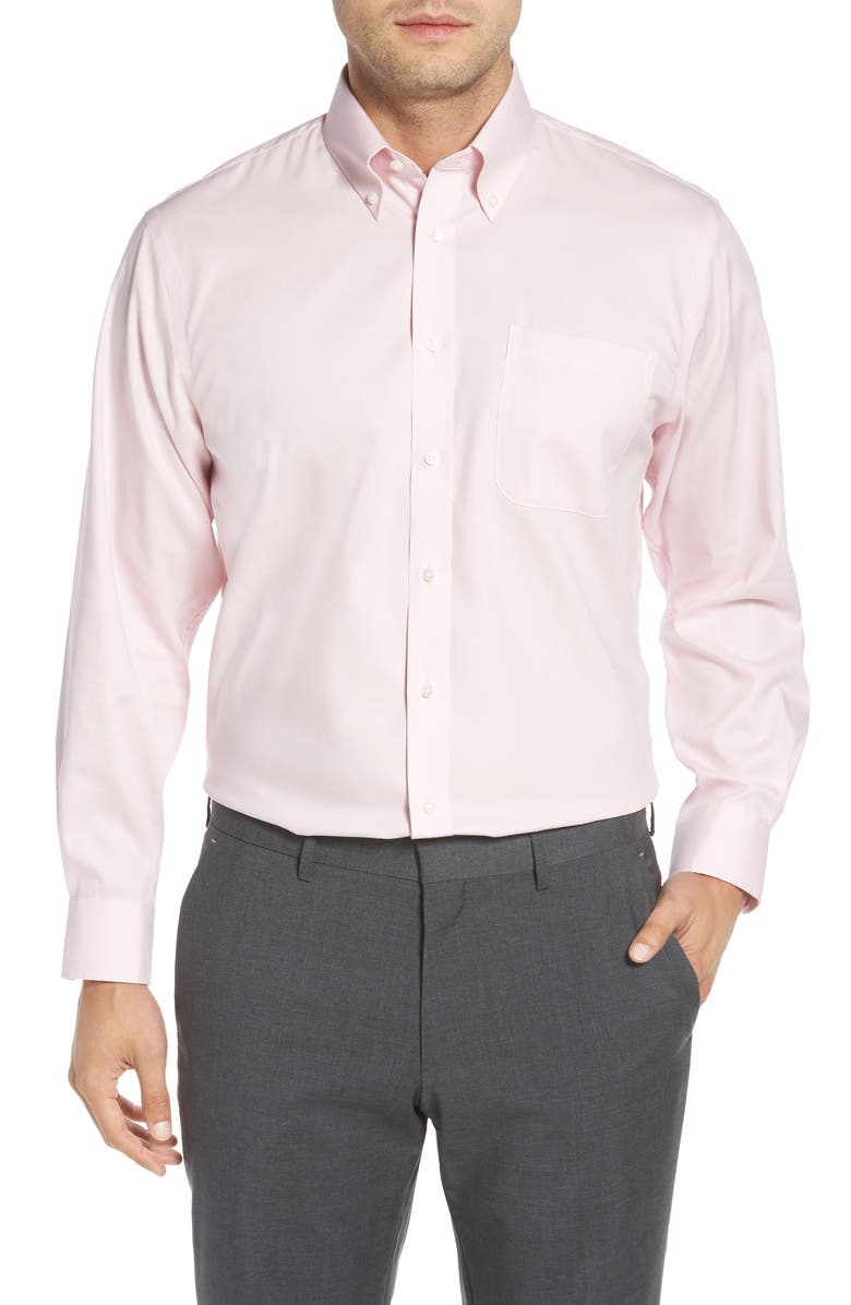 NORDSTROM MEN'S SHOP Traditional Fit Non-Iron Dress Shirt, Main, color, PINK NOSTALGIA