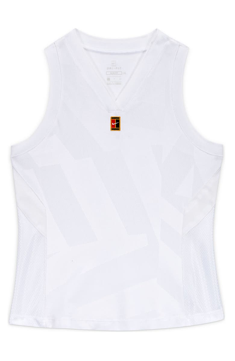 NIKE NikeCourt Dry Slam Tank, Main, color, WHITE