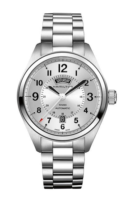 Image of Hamilton Men's Khaki Field Day Bracelet Watch, 42mm