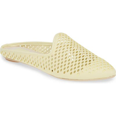 Dolce Vita Grant Perforated Loafer Mule- Yellow