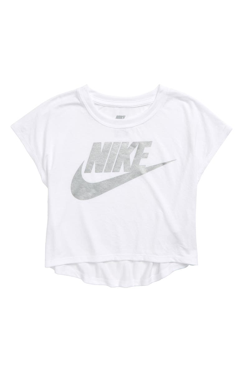 NIKE Boxy Graphic Tee, Main, color, WHITE