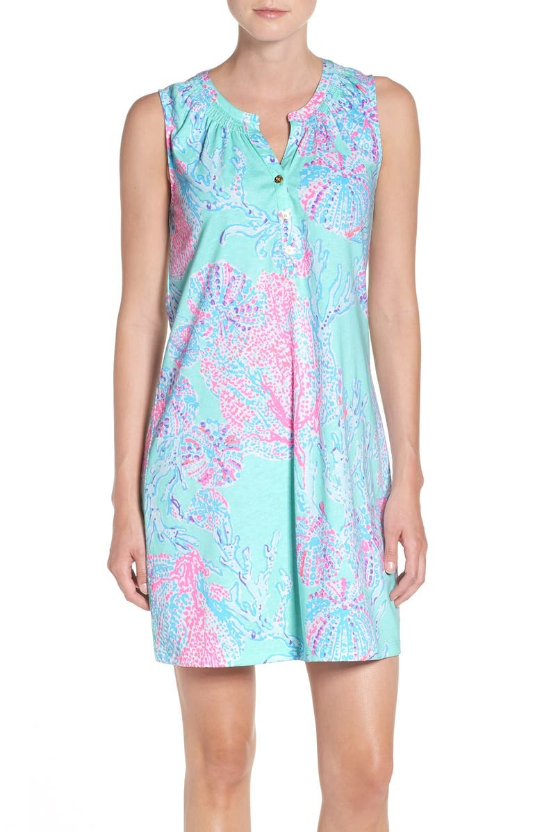 LILLY PULITZER<SUP>®</SUP> 'Essie' Cotton & Modal A-Line Dress, Main, color, 489