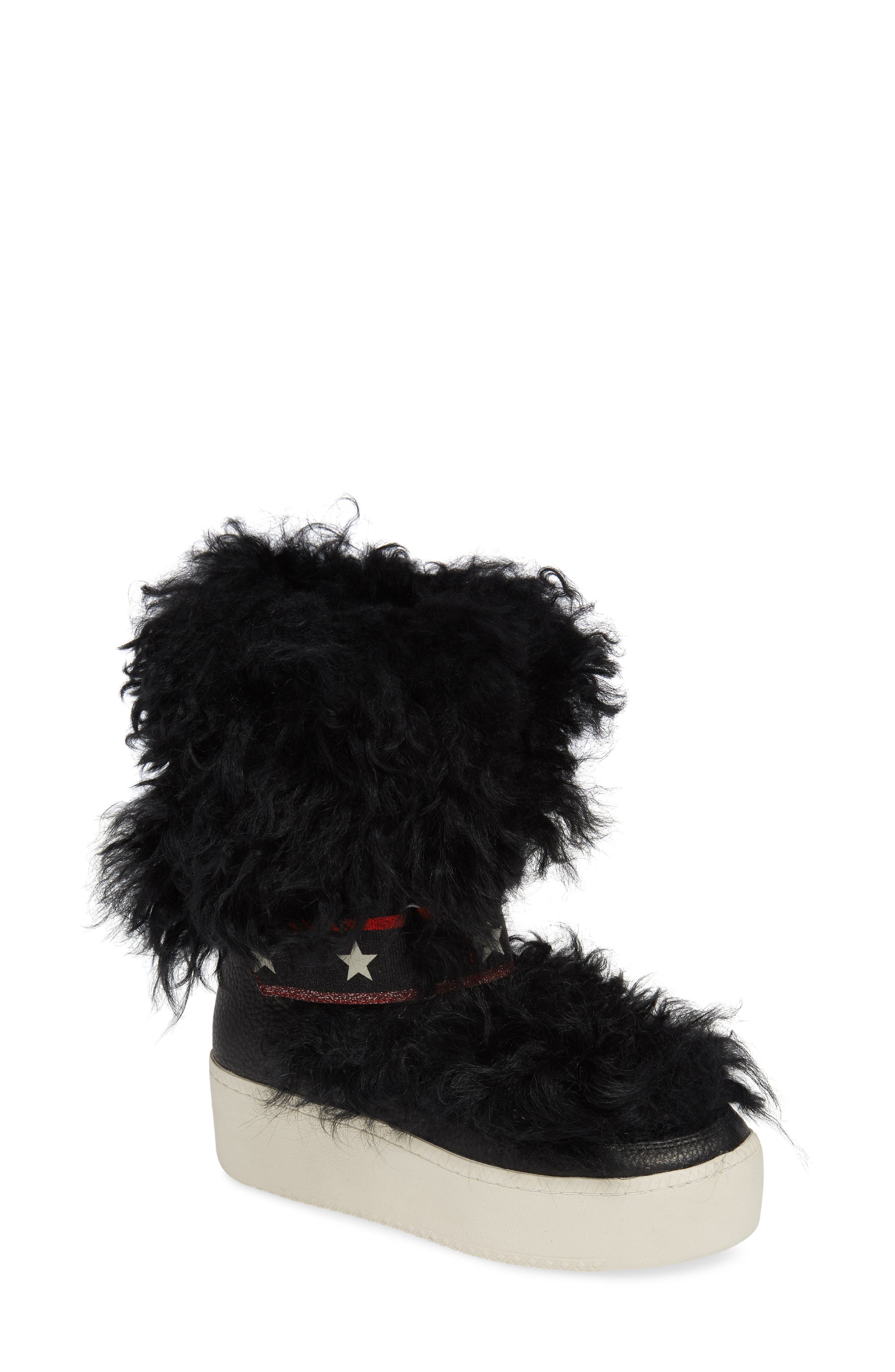 Ash Cool Genuine Shearling Boot, Black