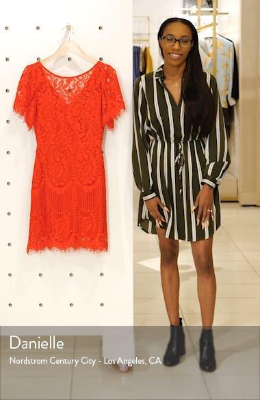 Pearson Short Sleeve Lace Cocktail Minidress, sales video thumbnail