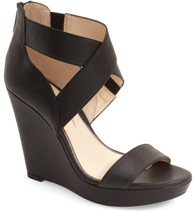 JESSICA SIMPSON 'Jamilee' Wedge Sandal, Main, color, 001