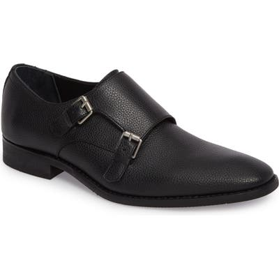 Calvin Klein Robbie Double Monk Strap Shoe, Black