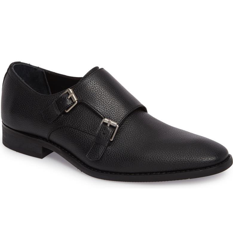 CALVIN KLEIN Robbie Double Monk Strap Shoe, Main, color, 001