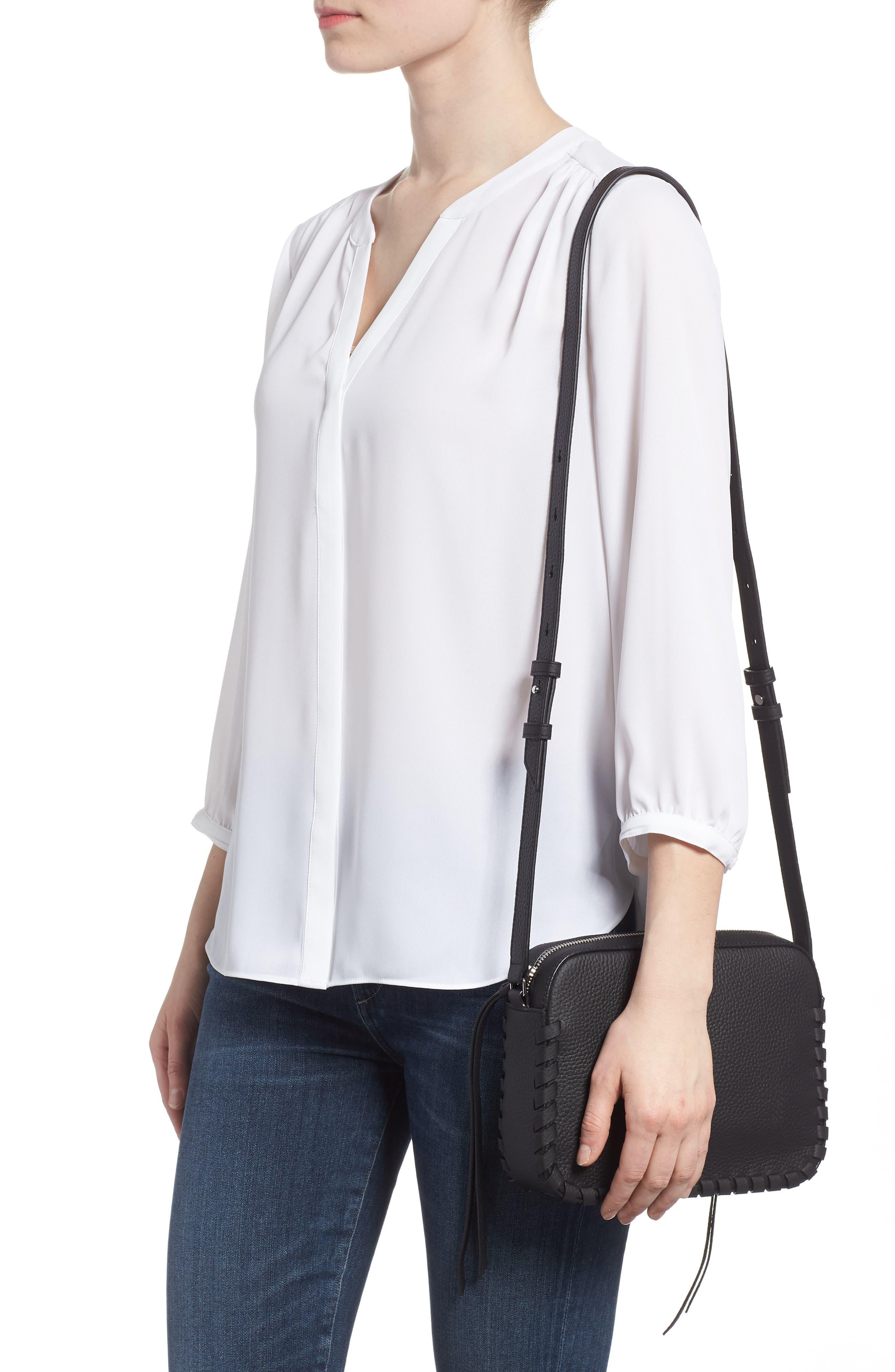 ,                             Kepi Mini Leather Crossbody Bag,                             Alternate thumbnail 2, color,                             BLACK