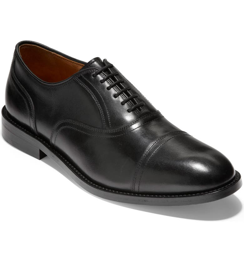 COLE HAAN American Classics Kneeland Cap Toe Oxford, Main, color, BLACK LEATHER