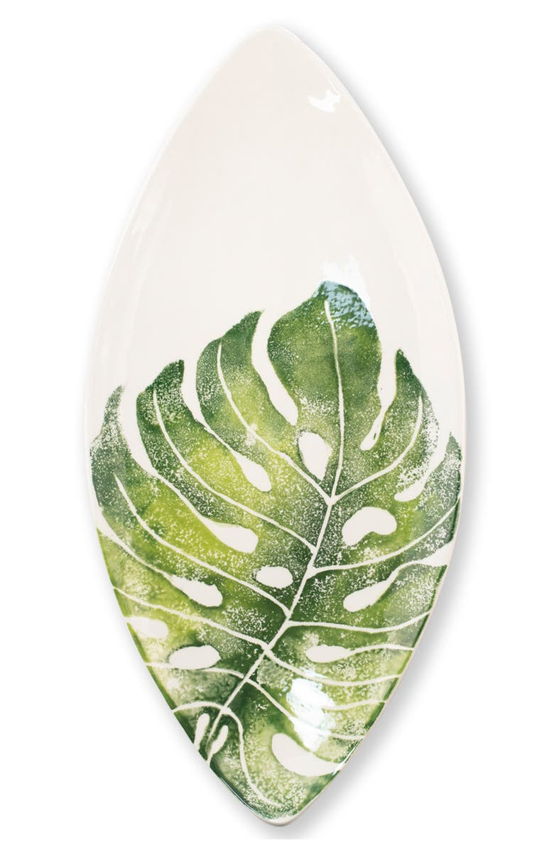 VIETRI Into the Jungle Pointed Platter, Main, color, GREEN