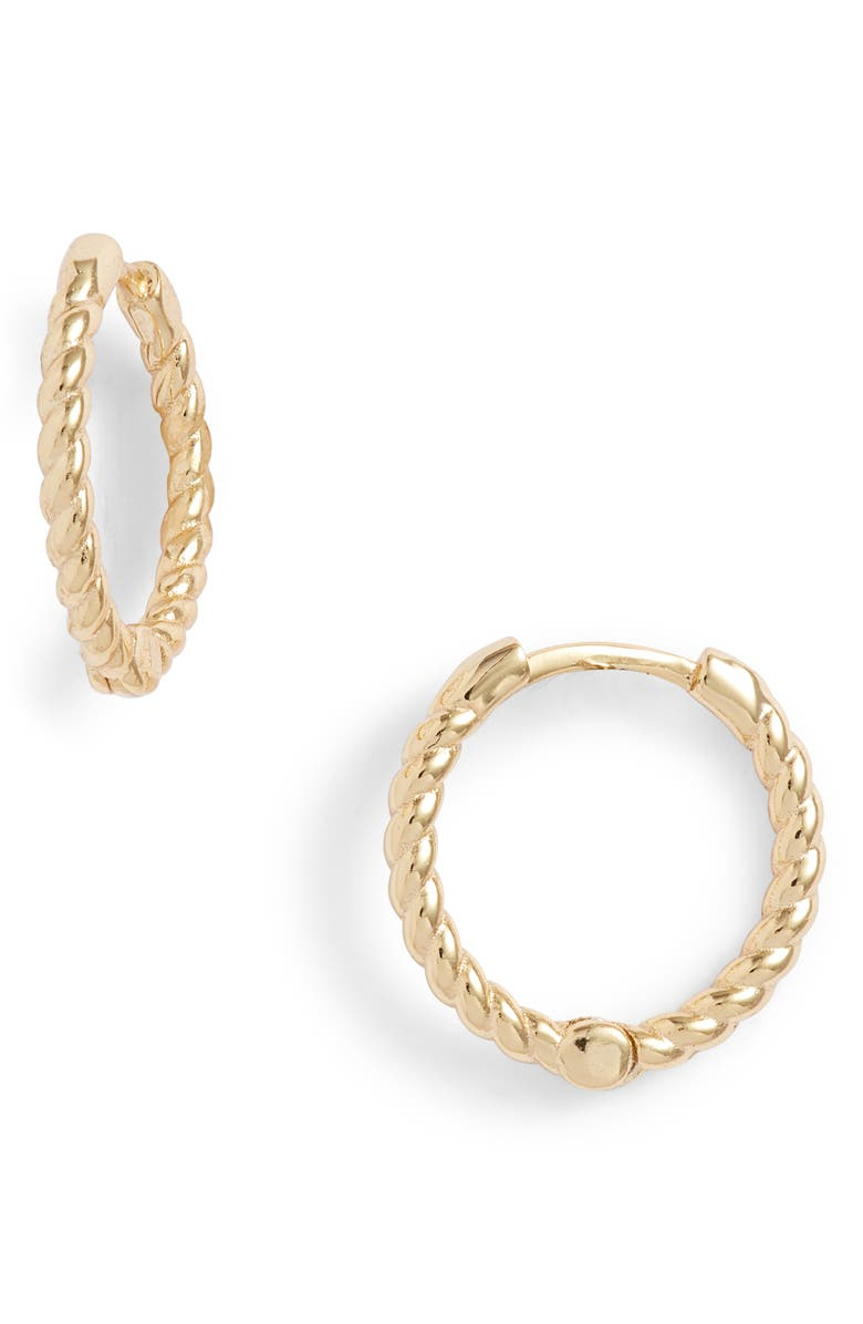 ADINA'S JEWELS Adina's Jewels Rope Huggie Earrings, Main, color, 710