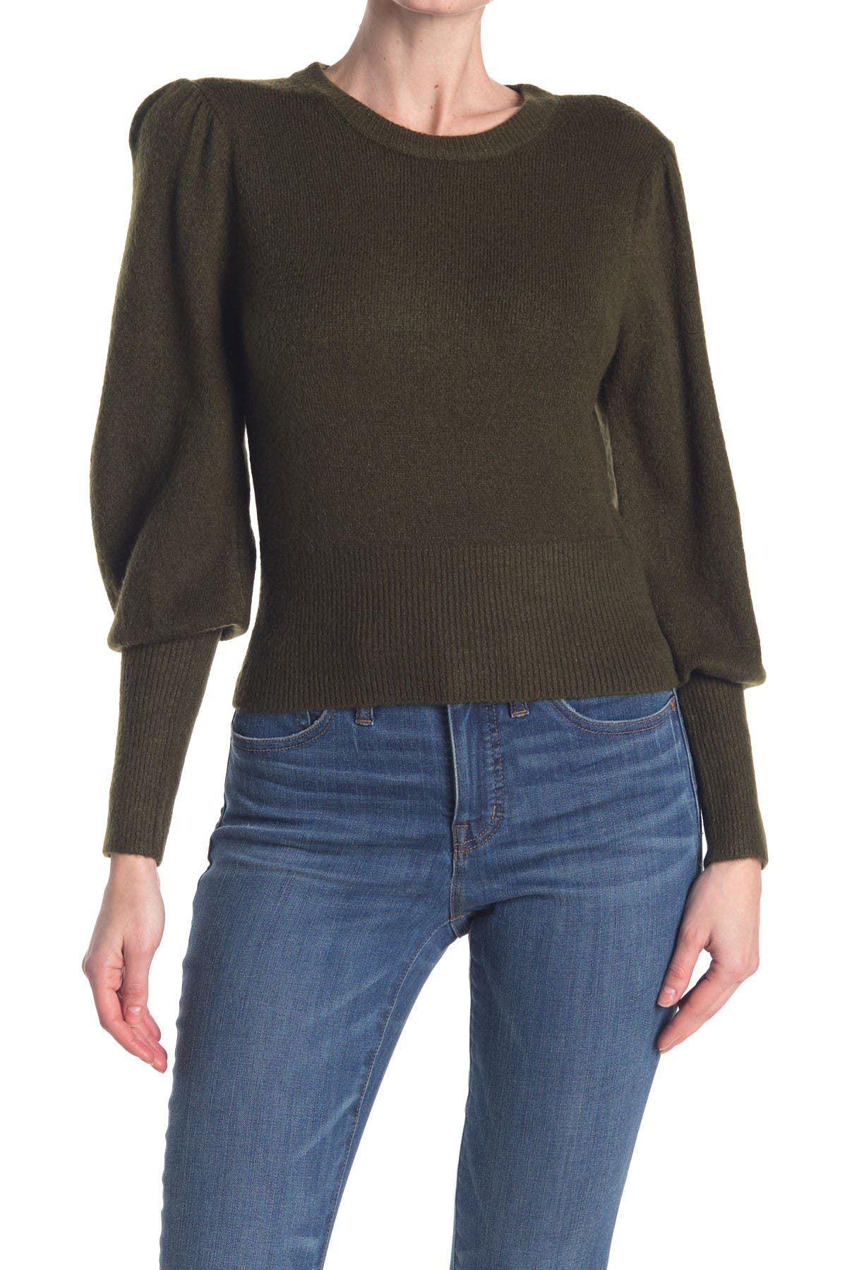 Image of Elodie Puffed Long Sleeve Pullover Sweater