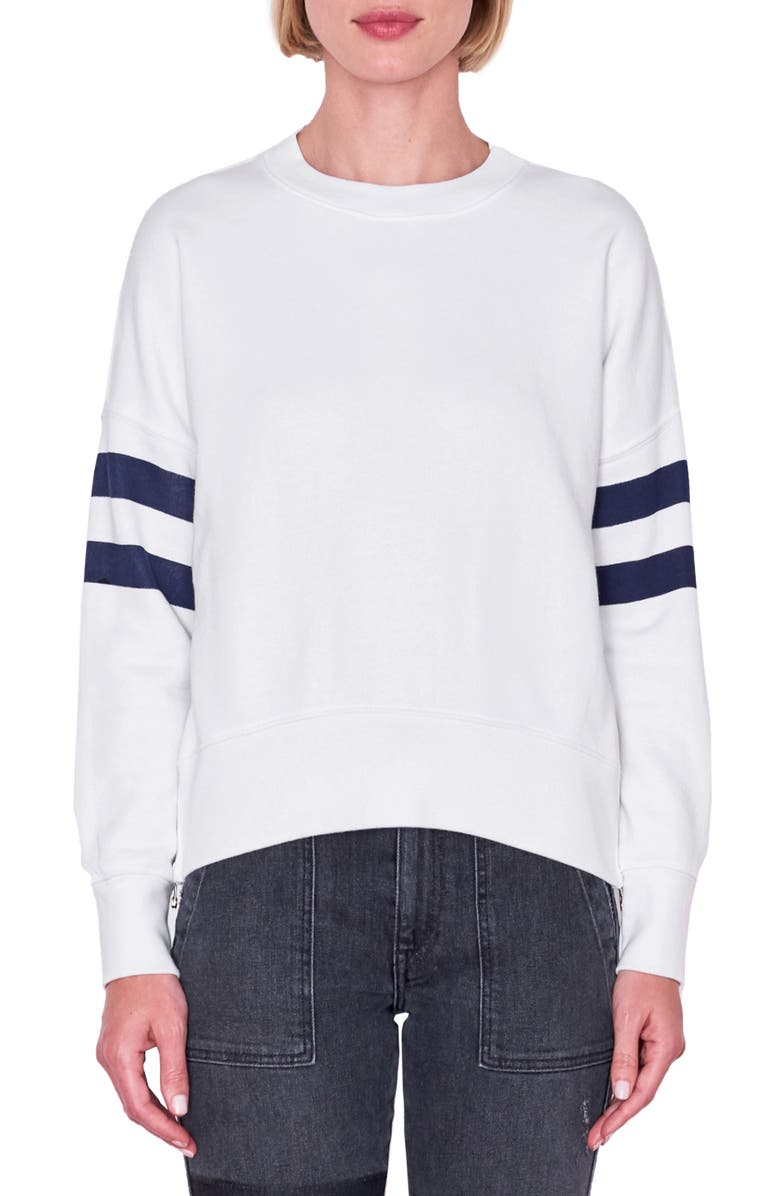 SUNDRY Double Zip Sweatshirt, Main, color, 100