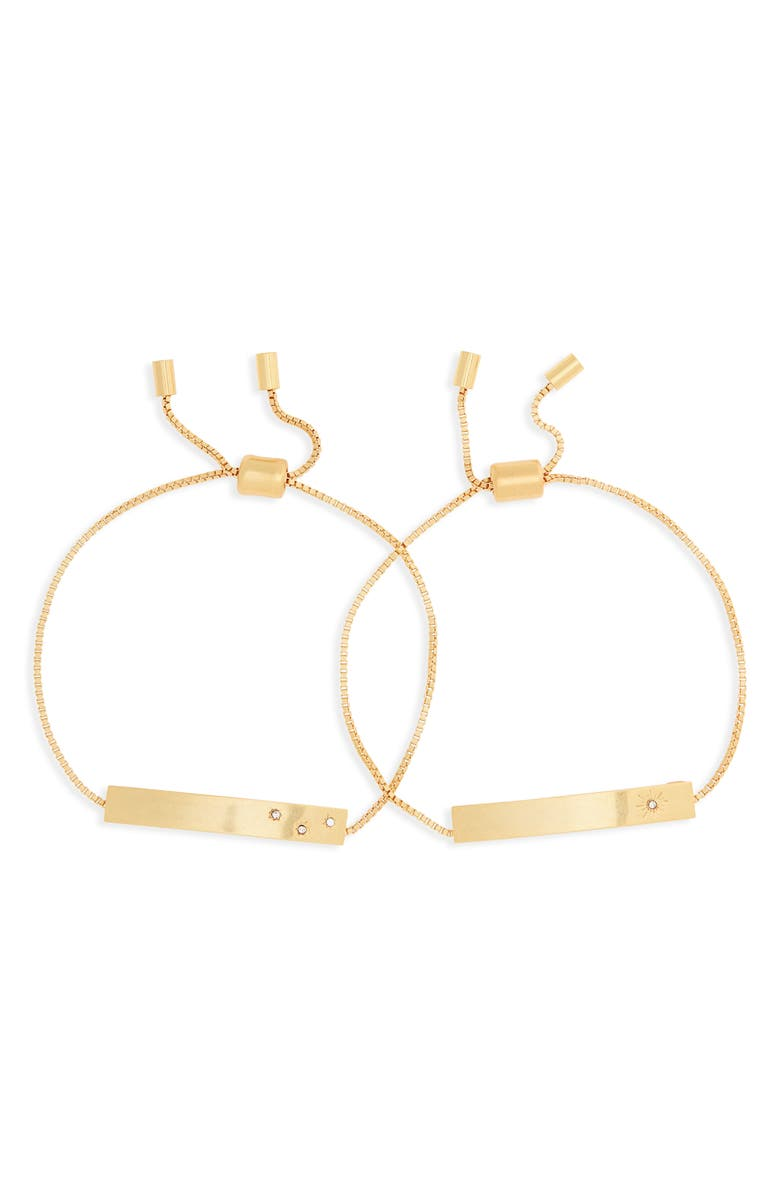 MADEWELL Twinkle ID Friendship Bracelet Set, Main, color, VINTAGE GOLD