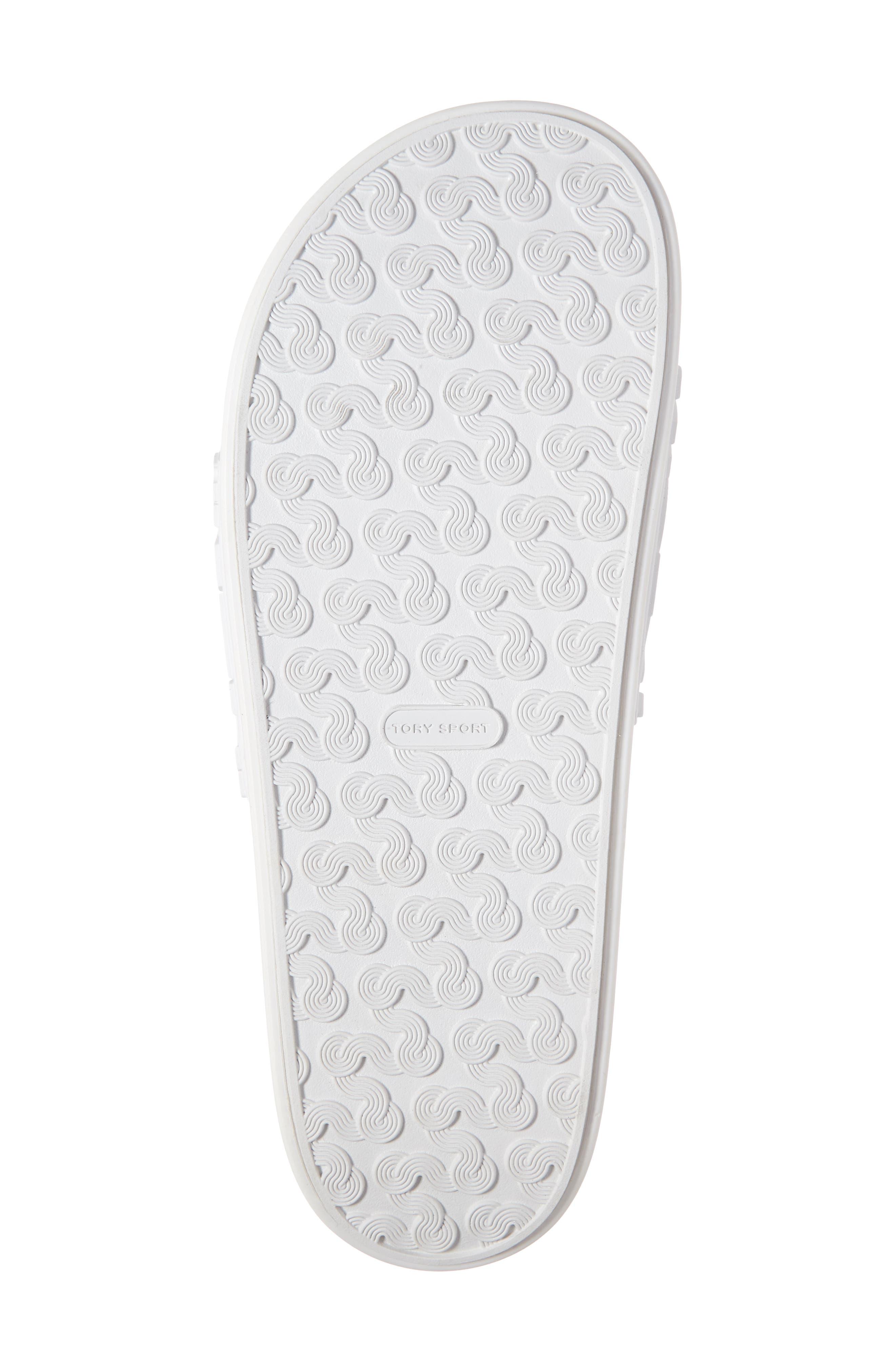 ,                             Tory Burch Embossed Logo Slide Sandal,                             Alternate thumbnail 6, color,                             OFF WHITE