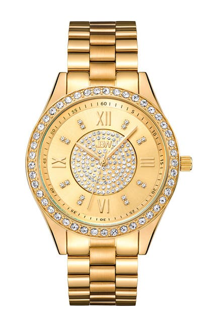 Image of JBW Women's Mondrian 18K Gold Plated Stainless Steel Diamond Watch, 37mm - 0.16 ctw