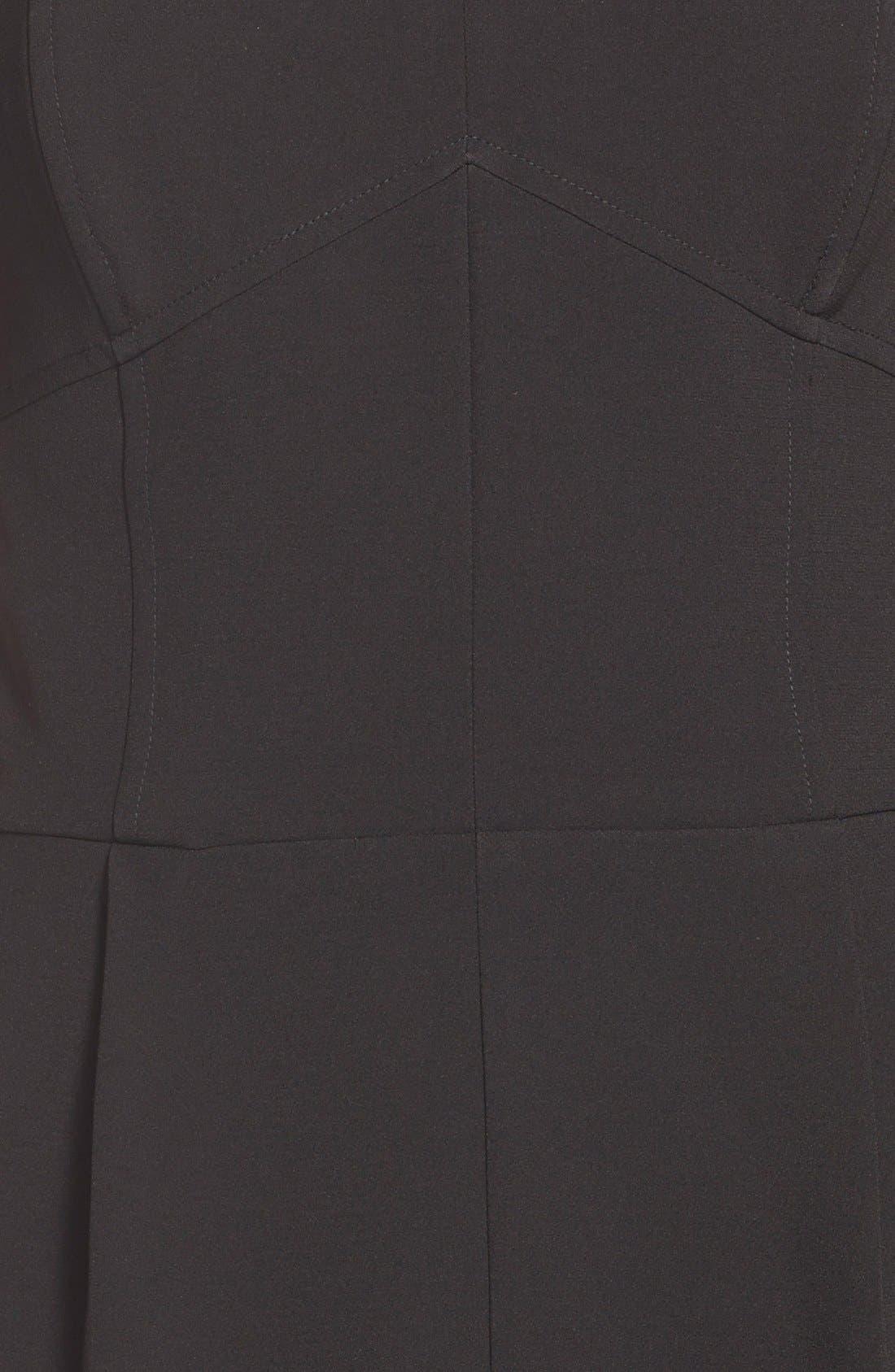 ,                             Strapless Slim Leg Jumpsuit,                             Alternate thumbnail 8, color,                             001