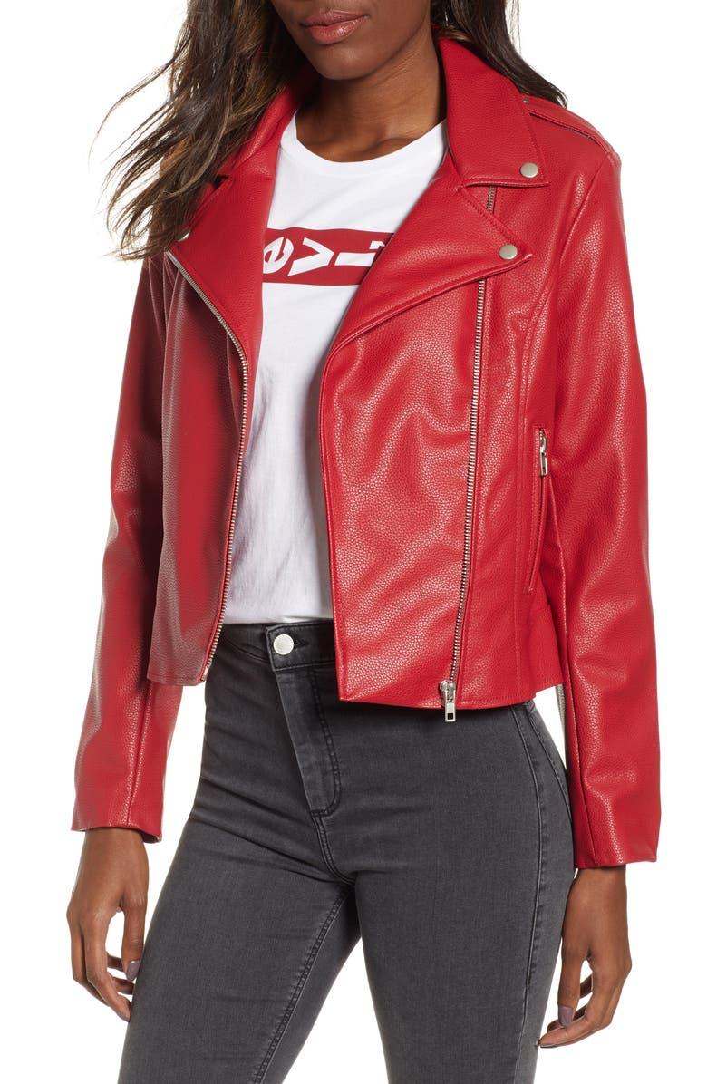 BB DAKOTA Beverly Thrills Faux Leather Jacket, Main, color, 600