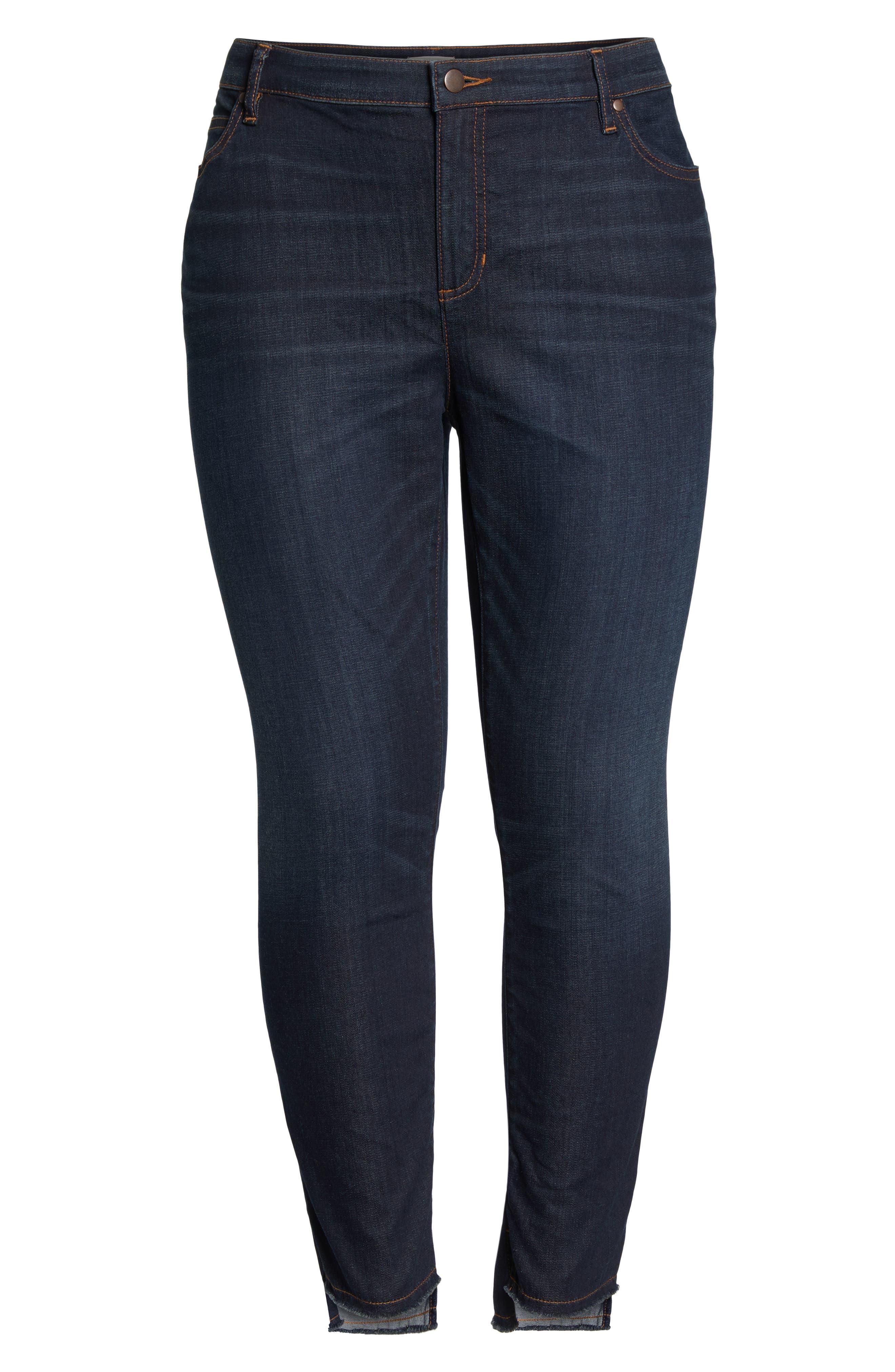 ,                             Fray Step Hem Ankle Skinny Jeans,                             Alternate thumbnail 13, color,                             483